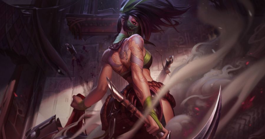Akali's reworked ability kit features backflips and kunai