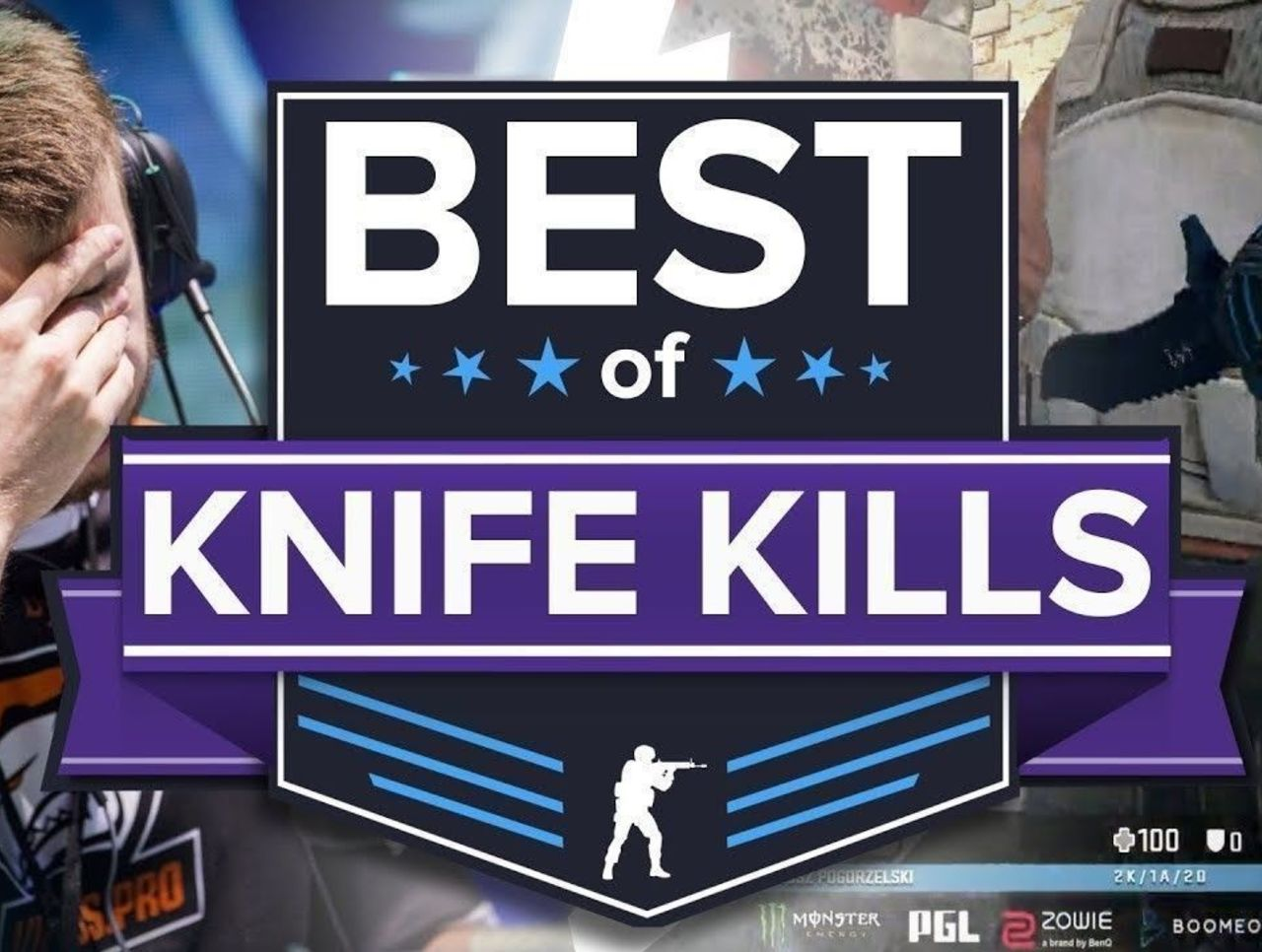 Pro Player Knife Kills and Fails: Best of CS:GO Knife Plays