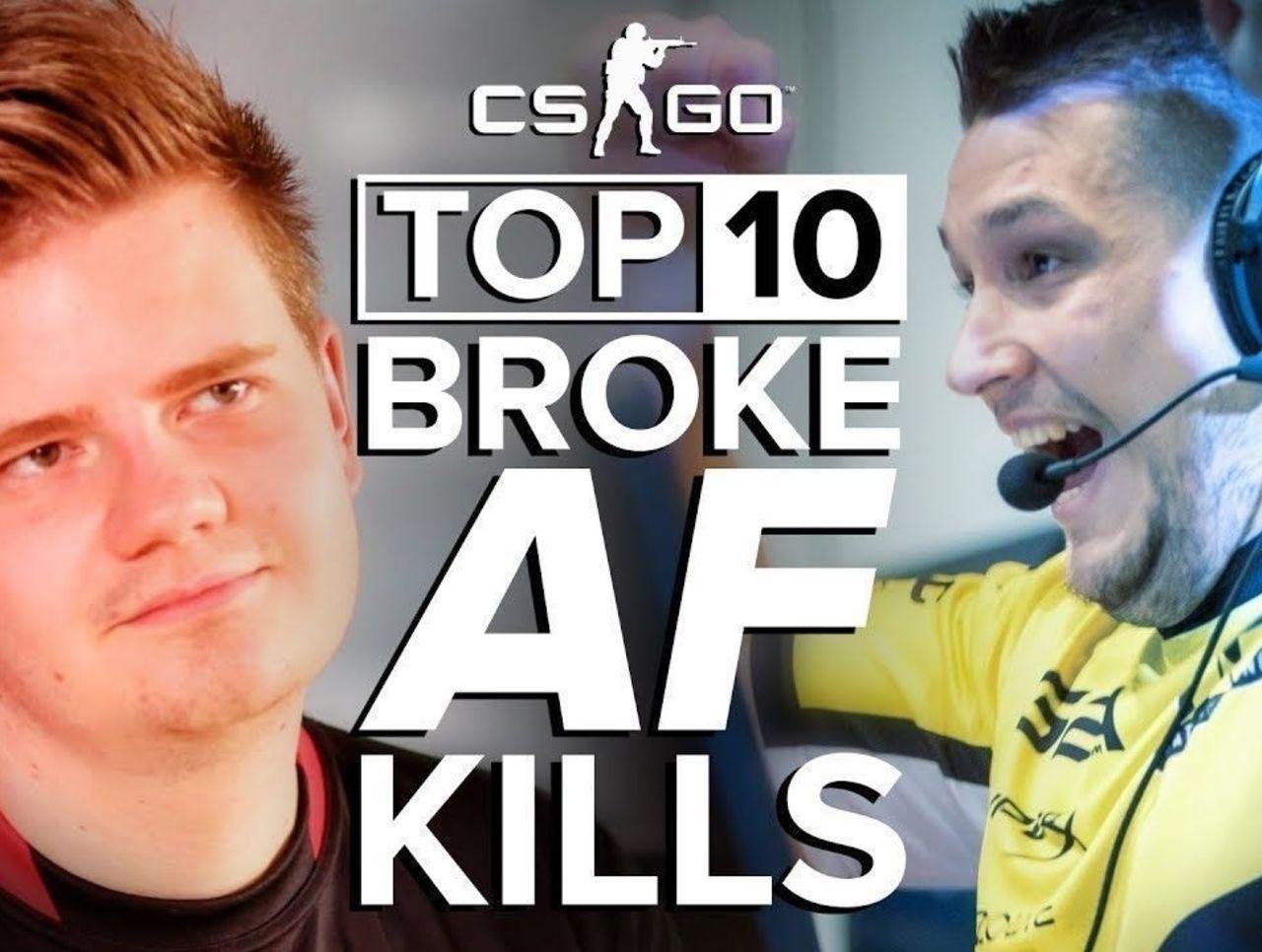 Top 10 Broke AF Kills in CS:GO (Eco Round Aces)