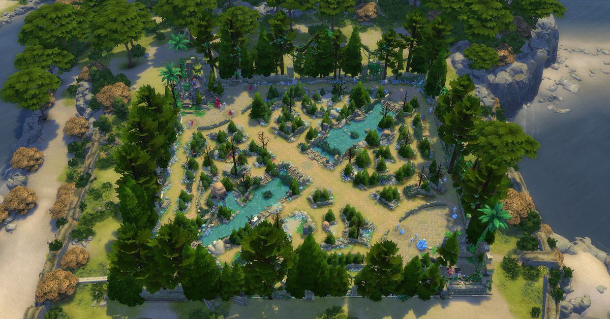 A fan remade Summoner's Rift in The Sims 4