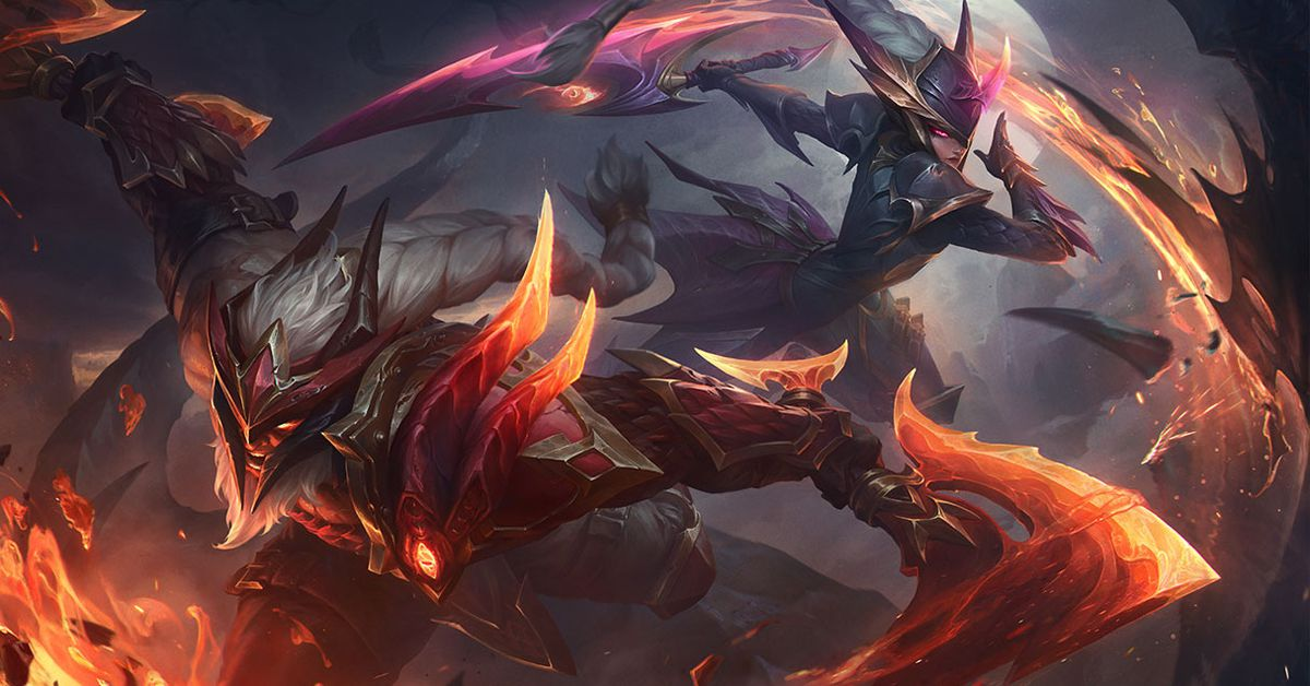 Dragon Slayer Diana, Olaf, and Trundle: models and splash art