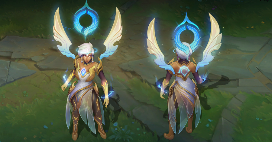 New Dawnbringer Karma, Nidalee, and Soraka skins show the light